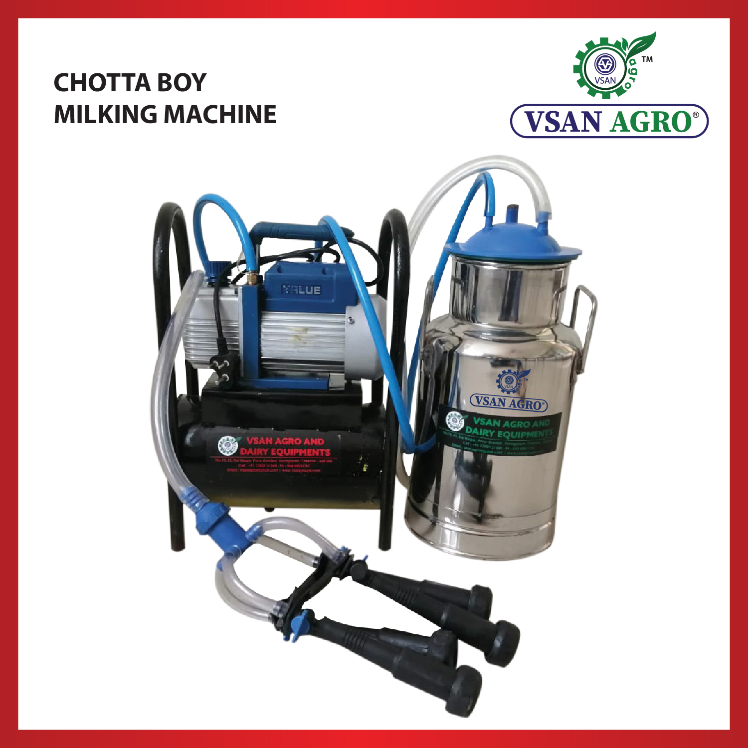 VSAN Chotta Boy Milking Machine