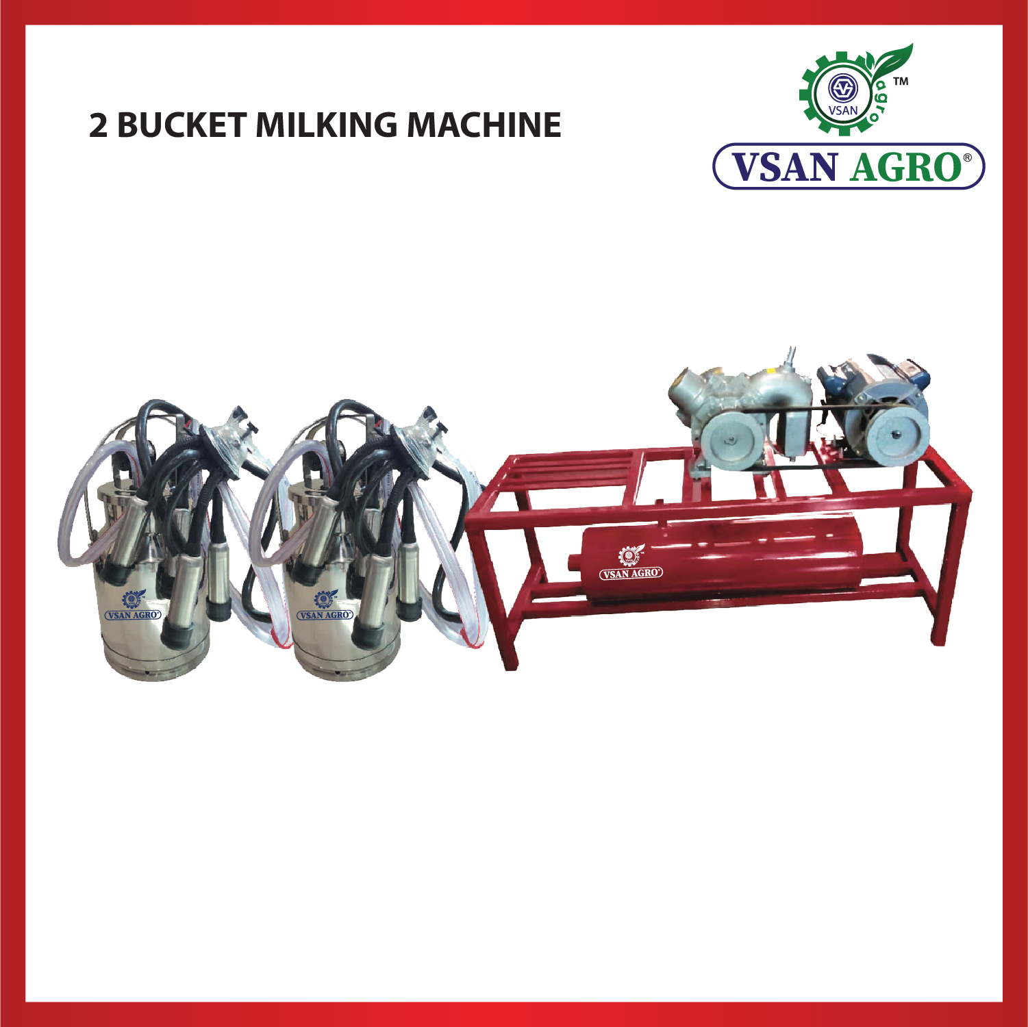 VSAN 2 Bucket Milking Machine