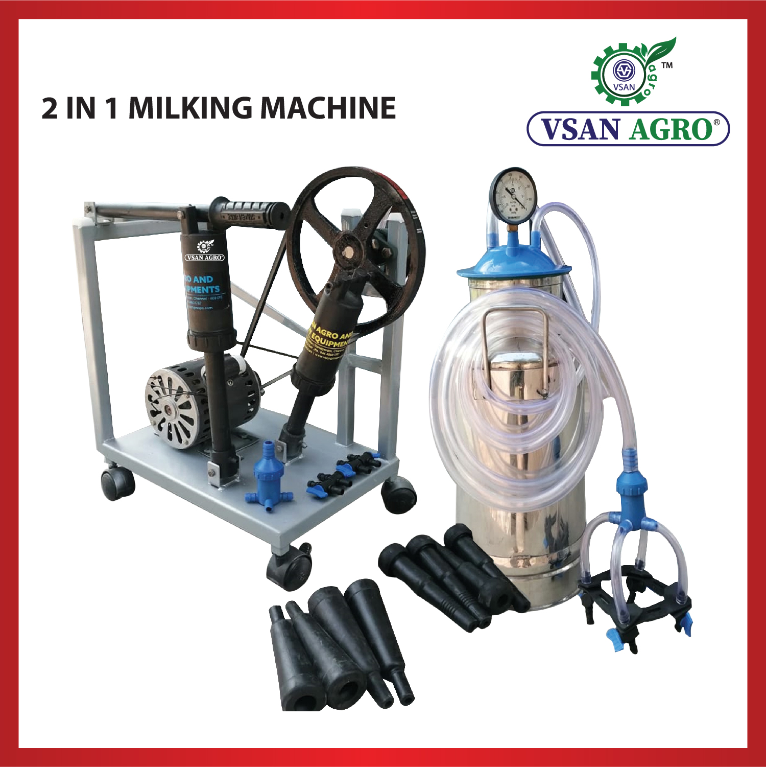 VSAN 2 in 1 Milking Machine