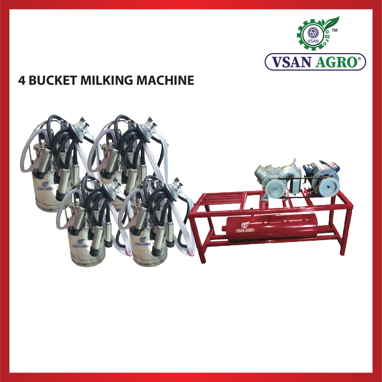 Four Bucket Milking Machine